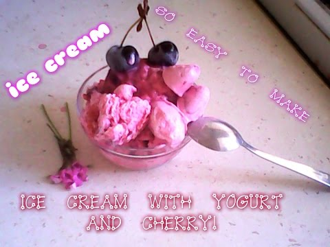 Making So Easy Cherry İce cream !! ( FOR SUMMER TİMES)
