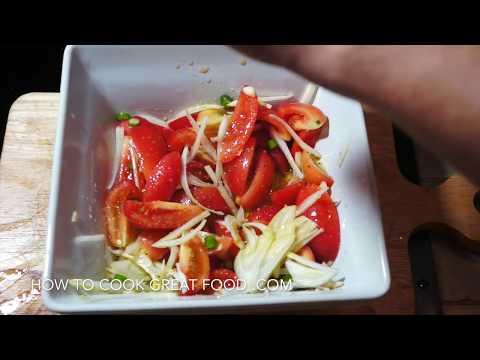 Tomato Lime Chilli Garlic Salad - Tomato Salad Recipe