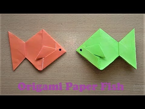 How to make an Origami Paper Fish Step by Step - Very Easy Origami Fish