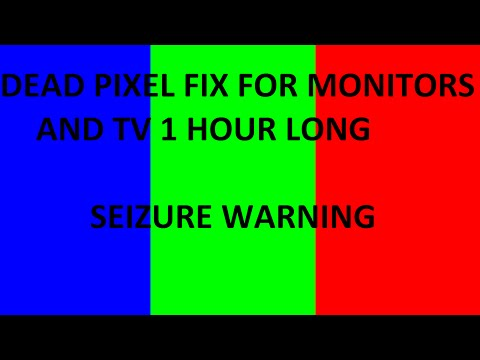 Dead Pixel Fix for Monitors and TV 1 Hour Long Seizure Warning