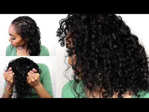 Curly Hair Routine for Fine, Thin, Heat Damaged Hair