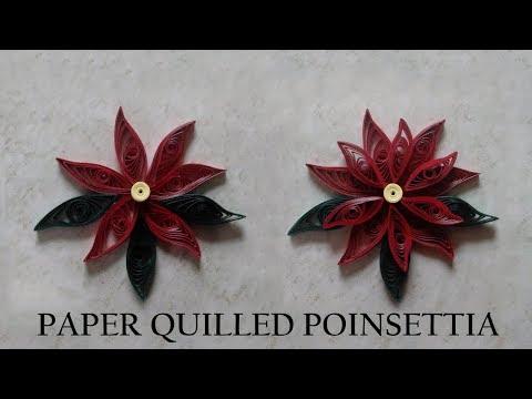 Paper Quilled Poinsettia -  DIY
