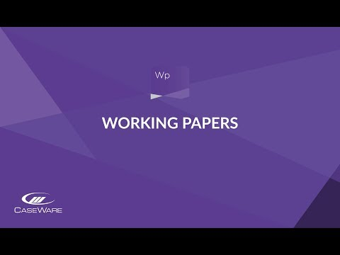 Caseware Working Papers