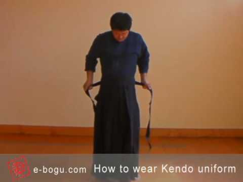Kendo101: How to wear a Kendo uniform (Kendogi and Hakama)?