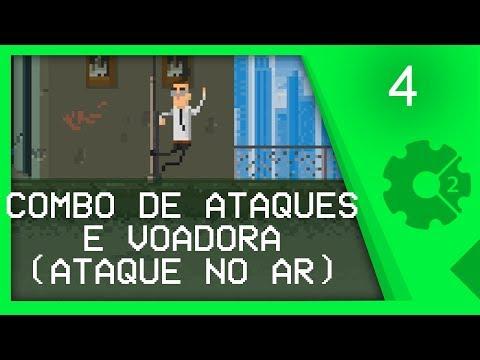 COMBO DE ATAQUES FÍSICOS E VOADORA - Curso Beat'em Up / Brawler Aula 4 [CONSTRUCT 2]