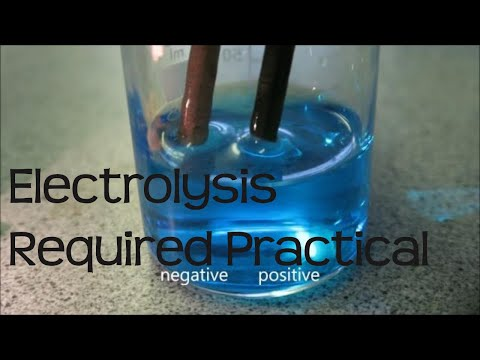 The electrolysis of copper (II) sulfate.