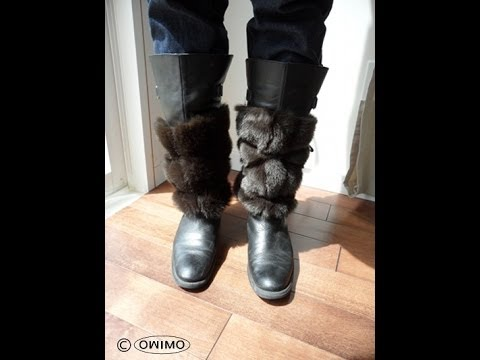 How to make fur boot cuffs - OWIMO Design Upcycling