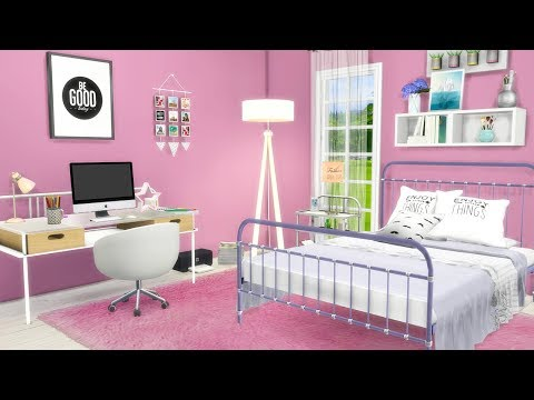 INNOCENT & SWEET BEDROOM🎀✨ // THE SIMS 4 | CC ROOM BUILD