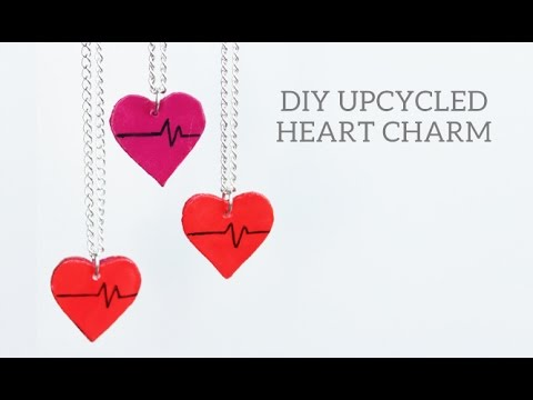 DIY Upcycled Heart Layered Necklace // with That's Zoe