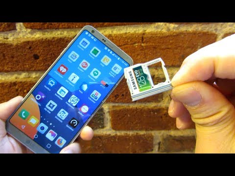 LG G6 - SIM Tray Install and Removal (How to install MicroSD Memory Card)