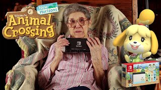 88-Year-Old Grandma Unboxing Animal Crossing New Horizons Switch