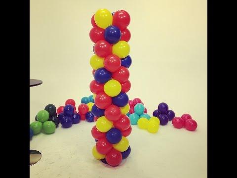 Balloon Tower - Spiral Checkerboard Pattern ~ DIY Tutorial