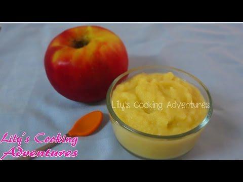 Homemade Baby Food Apple Sauce Puree | Mon An Dam Cho Be