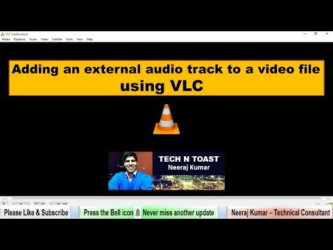How to add audio track to video in vlc