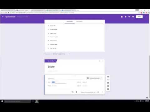 Creating a Grading Rubric for Easy Grading with Google Forms