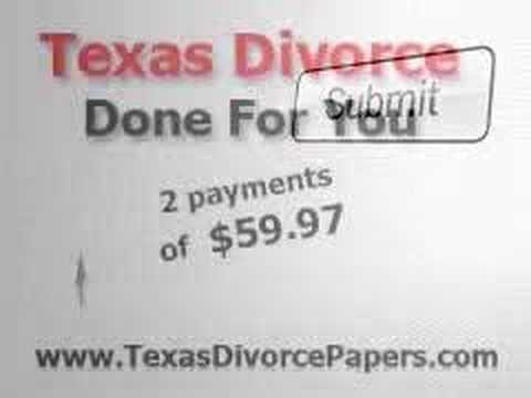 Texas Divorce Papers