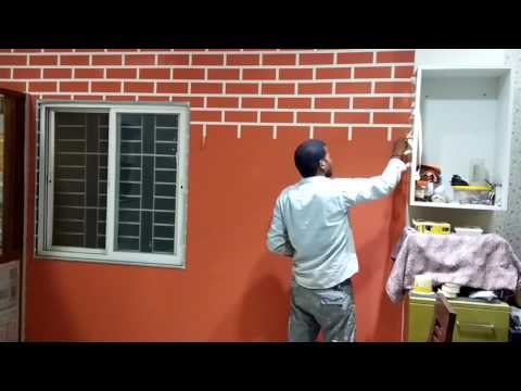 Asian paints brick texture