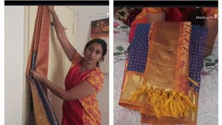 use this easy TRICK to set saree pleats and Fold for travel in Tamil| easy saree pleating style