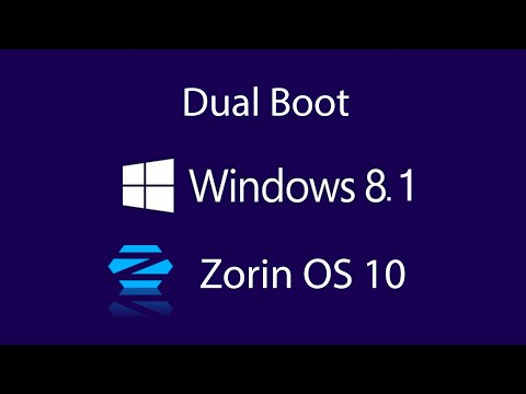 How to Dual boot windows 8.1 with Zorin OS 10 2016