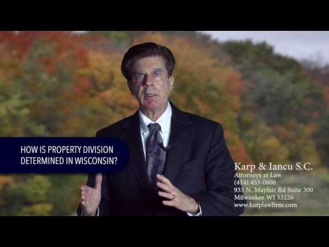 How is property division determined in Wisconsin?