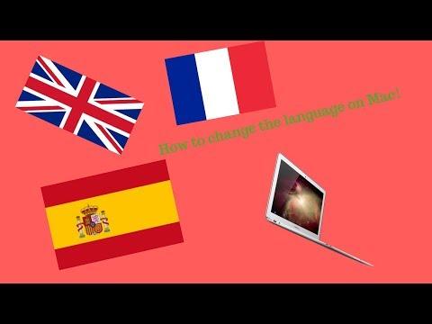 How to change the MacBook language (Mac OS High Sierra)