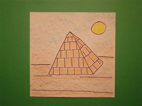 Let's Draw an Egyptian Pyramid!