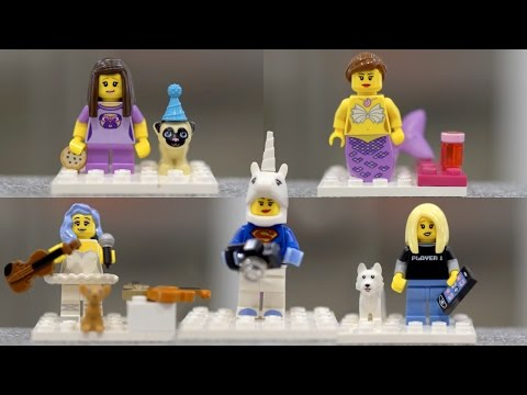 LEGO Rosanna, Cassey, Lindsey and Lilly minifigures!   iJustine