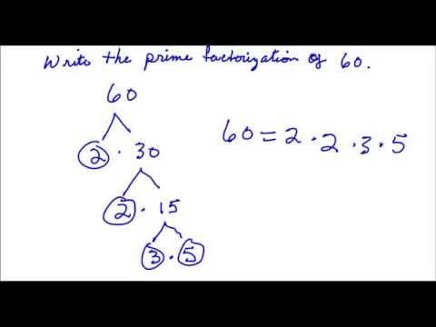 Write the prime factorization of 60 - Youtube