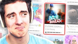 SAYING GOODBYE TO ROBLOX JAILBREAK