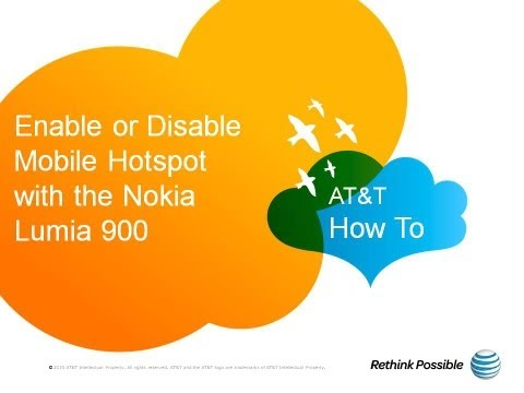 Enable or Disable Mobile Hotspot with the Nokia Lumia 900: AT&T How To Video Series