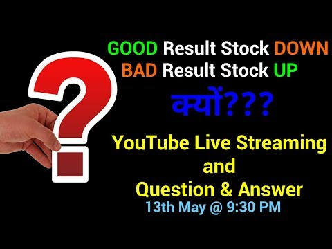 🔴🔴 Correlation between Stock Price and Results - YouTube LIVE Streaming and Q&A