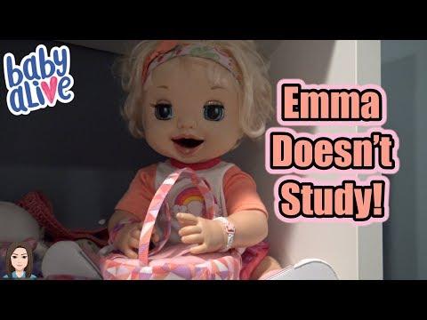 Baby Alive Emma Doesn't Study! | Kelli Maple