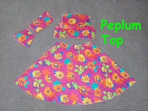 Peplum Top Measurements & Cutting| Latest Pakistani Peplum Dress| Peplum Short Umbrella Frock|Part 1