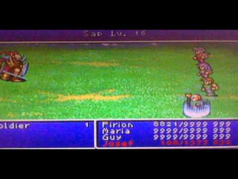 Final Fantasy II GBA How to Speed Level HP and MP