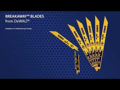 DeWalt Breakaway Reciprocating Saw Blades
