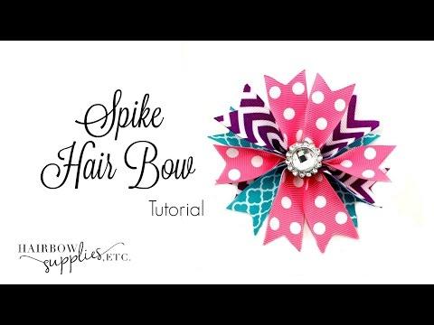 Spike Hair Bow Tutorial - Hairbow Supplies, Etc.