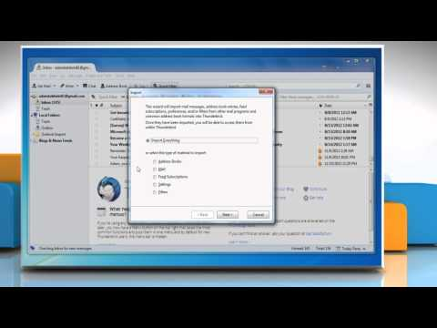 How to Import Microsoft® Outlook 2007 Contacts to Mozilla® Thunderbird