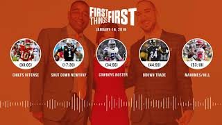 First Things First audio podcast(1.16.19) Cris Carter, Nick Wright, Jenna Wolfe | FIRST THINGS FIRST