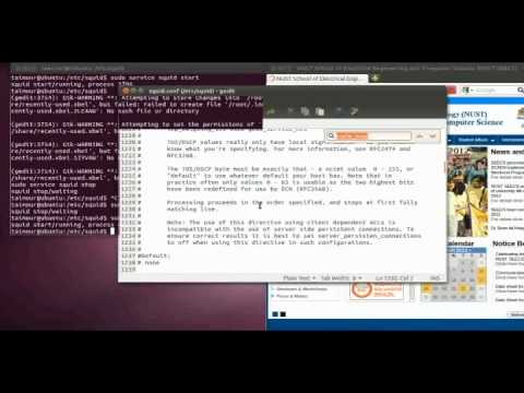 Configuring a Proxy server using SQUID2.7.avi