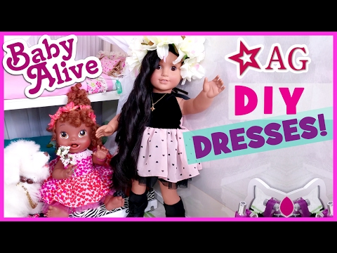 DIY HOW TO MAKE BABY ALIVE & AMERICAN GIRL DOLL DRESSES CLOTHES! | BlueprintDIY Kids