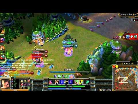 1v4 triple kill Graves- League of Legends