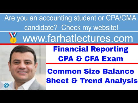common size balance sheet and trend analysis CFA exam ch 5 p 3