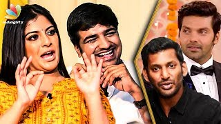 Varalakshmi's Punishment to Arya & Vishal : Hilarious Interview | Sathish | Mr. Chandramouli