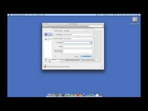 Mac OSX: How to create a multiple user accounts