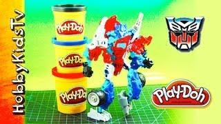 PLAY DOH Optimus Prime Box Open Animated Build
