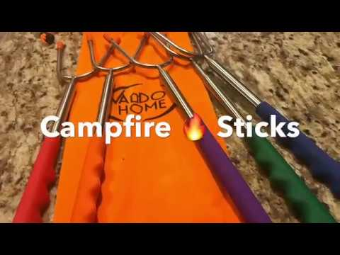 Marshmallow Roasting Sticks | S'mores Family Time | Patio Campfire Fire BBQ Pit
