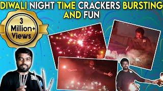 Diwali Night Time Crackers Bursting and Fun