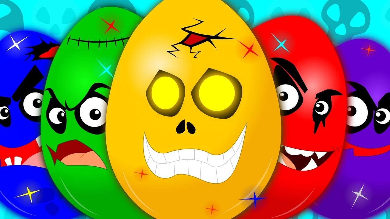 Learn Colors   Learning Video For Kids   Scary Surprise Eggs   Colors Song   Eggs With Colors