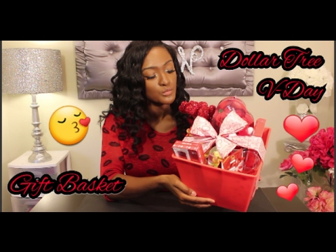 How to make a Valentine's day ❤ Gift Basket | ALL DOLLAR TREE ITEMS ❤ | GIFT IDEAS UNDER $20!!!