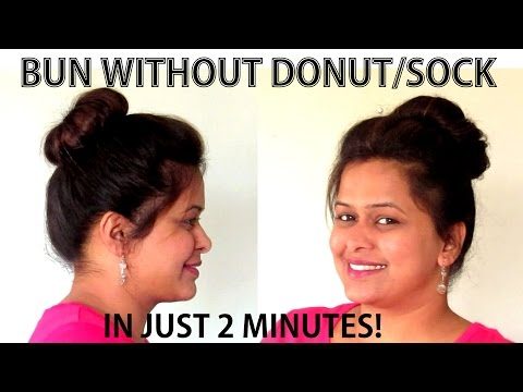 How To: Create A Perfect Bun In 2 Minutes! (Without Using Donut/Sock)